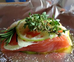 Lachs in Alufolie