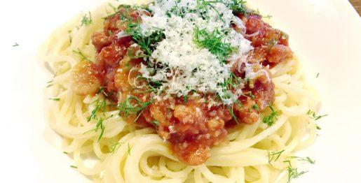 Pasta mit Salsiccia in der Toskana zubereitet